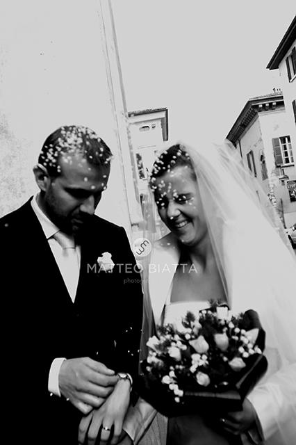 07Matrimonio Francesco & Vanessa lancio riso bianco e nero