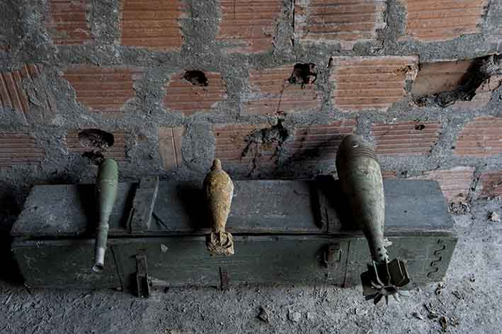 Granate inesplese in Gradačac Unexploded grenades in Gradačac