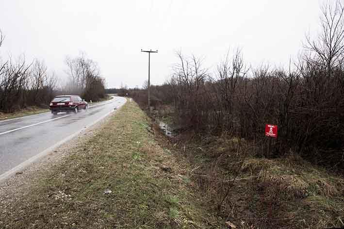 Zone minate vicino a Gradačac Mined areas near Gradačac